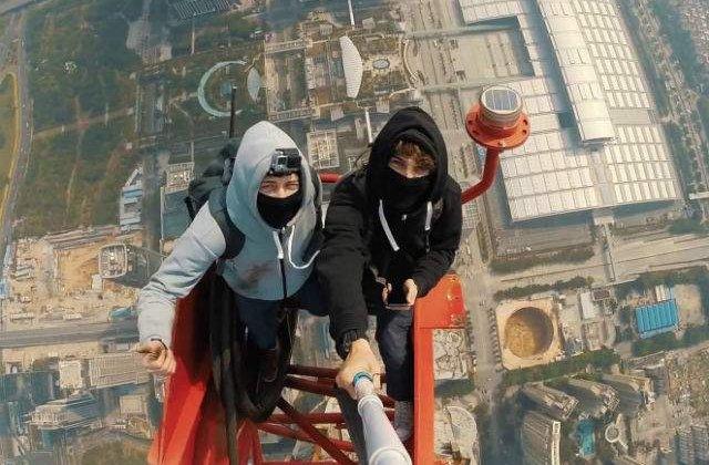 [VIDEO] Imaginile care iti vor da fiori: selfie de la 660 metri inaltime