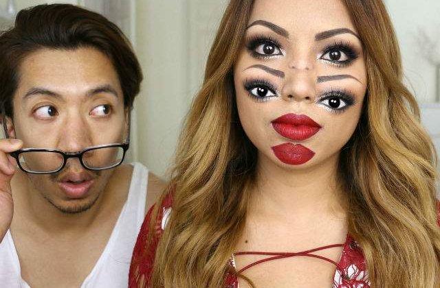 [VIDEO] Nu, nu vezi dublu! Cel mai tare machiaj de Halloween