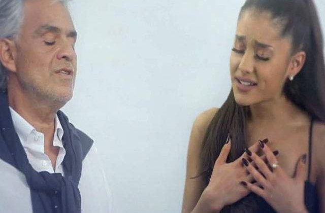 [VIDEO] Andrea Bocelli a colaborat cu Ariana Grande, iar rezultatul este superb