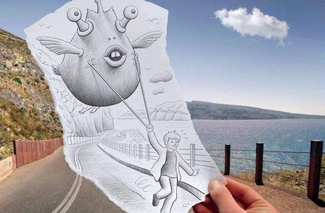 Desene creionate artistic, in imagini inedite