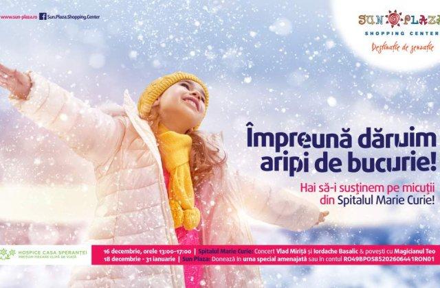 """Campania """"Impreuna daruim aripi de bucurie"""": 25.000 de lei, donati micutilor din Spitalul Marie Curie"""