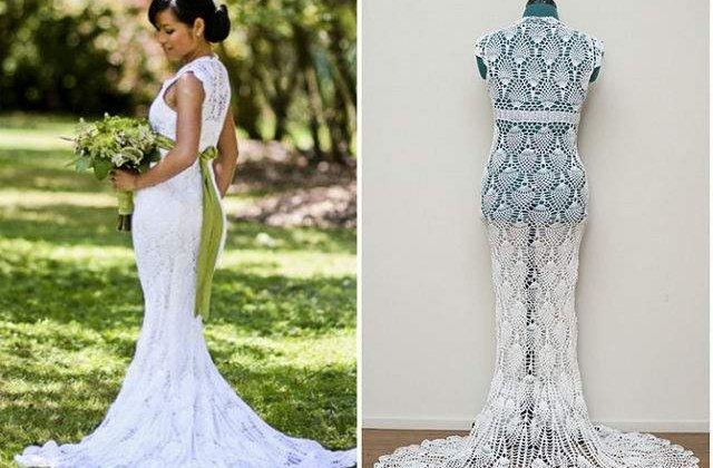 [VIDEO] Aceasta tanara si-a crosetat singura rochia de mireasa, cu doar 30 de dolari