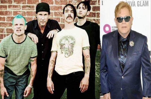 Elton John pregateste fanilor o surpriza alaturi de Red Hot Chili Peppers