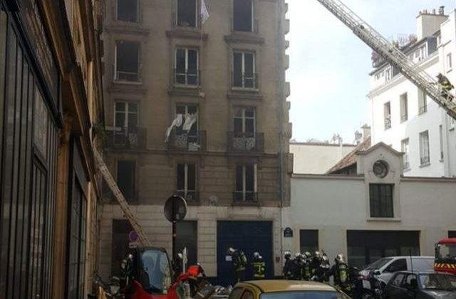 [VIDEO] Explozie puternica in Paris! Etajele superioare ale unui bloc, spulberate