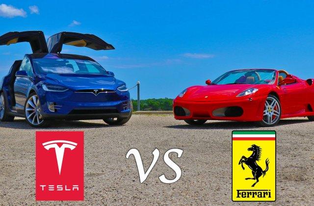 [VIDEO] Tesla model X da clasa unui Ferrari F430