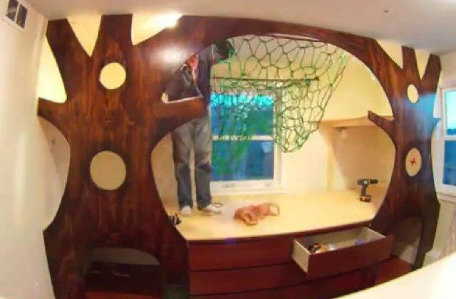[VIDEO] Acest tata a transformat complet dormitorul copiilor. Uite cum