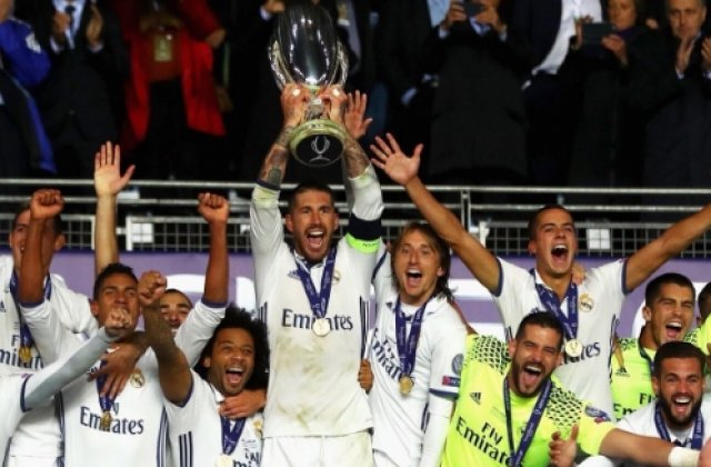 Real Madrid a castigat pentru a treia oara in istoria sa Supercupa Europei