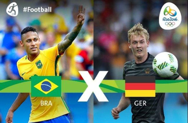 Dupa cea mai dura infrangere din istorie, 1-7, Brazilia va reintalni Germania, in finala JO
