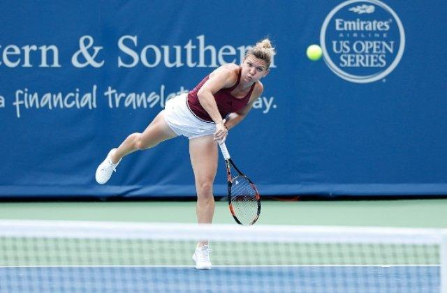 WTA Cincinnati: Simona Halep s-a calificat in sferturile probei de simplu