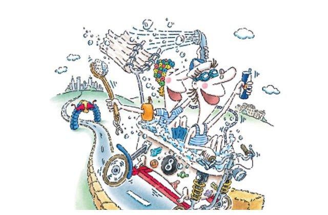 40 de masini artizanale au defilat in fata a peste 15.000 de oameni la cea de a doua editie a Red Bull Soapbox Race