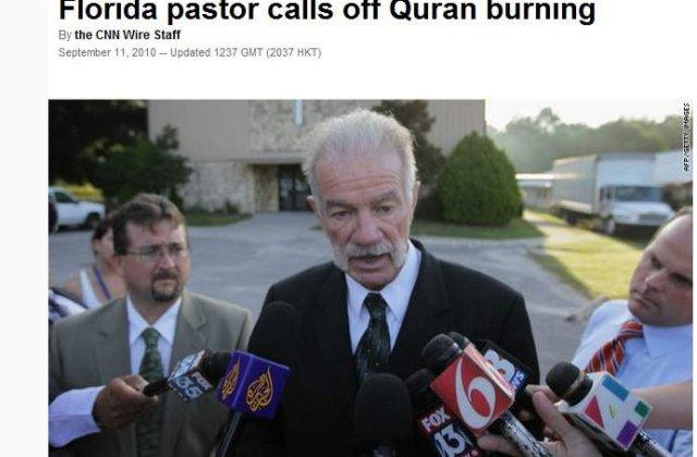 Pastorul Terry Jones nu va mai arde Coranul