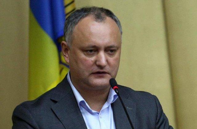 Dodon: Gandul ca poporul a ales un presedinte antioligarhic le da fiori exponentilor majoritatii parlamentare