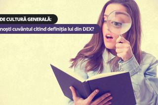 Test de cultură generală: Recunoști cuvântul citind definiția lui din DEX?